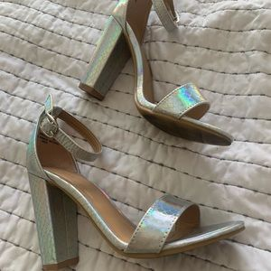 Iridescent Heeled Sandals